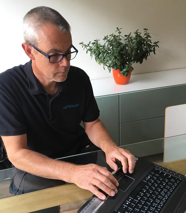 Dave Mitchell owns Bath small business WiFiGuys